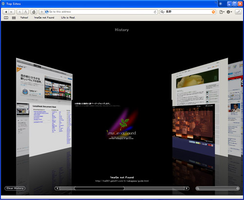 Apple Safari 4 for Windows (英語 β版)